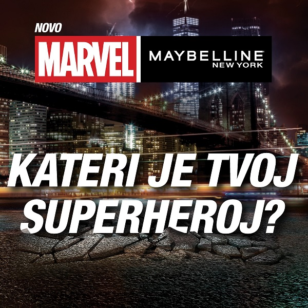 Spoznaj super heroje Marvel x Maybelline New York