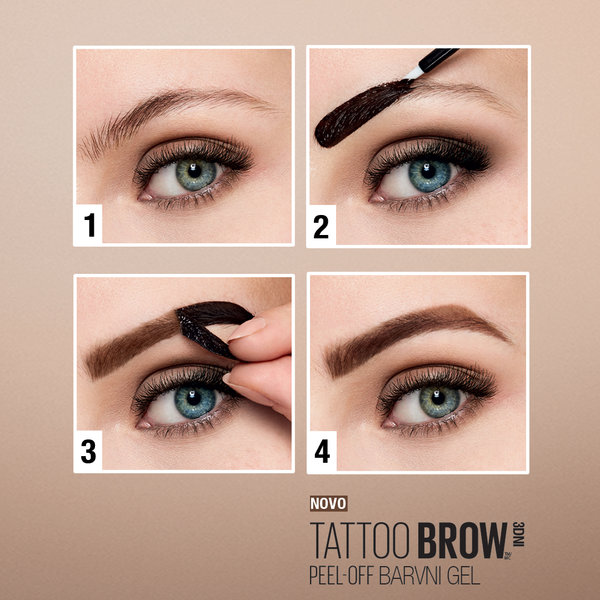 Maybelline Brow Tattoo barvni gel