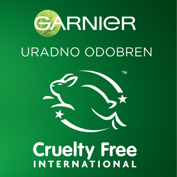 Garnier je pridobil potrdilo organizacije Cruelty Free International
